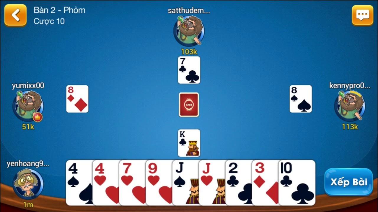 đánh phỏm online tại cổng game bài đổi thưởng go88