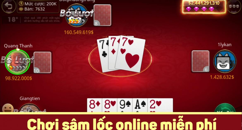 nhà cái game bài đổi thưởng go88 hướng dẫn chơi sâm online